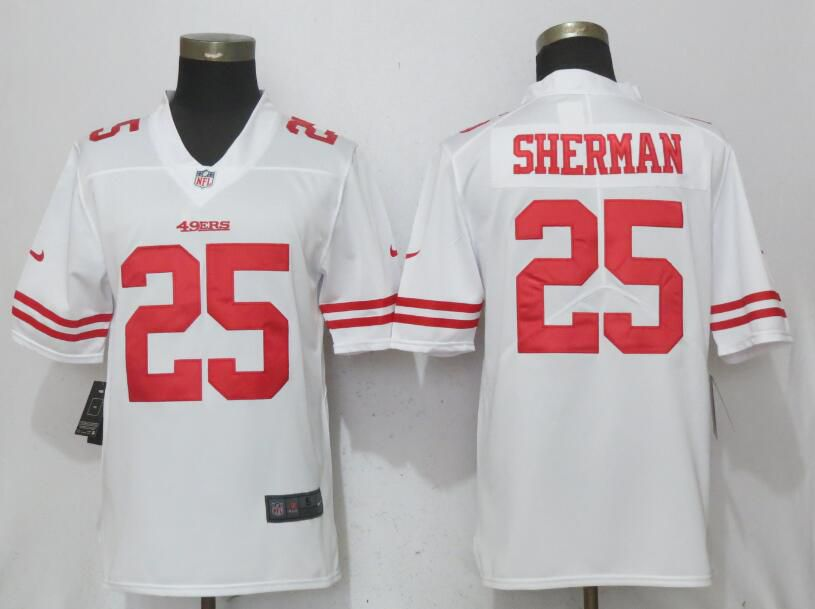 Men San Francisco 49ers 25 Sherman White Vapor Untouchable New Nike Limited NFL Jerseys