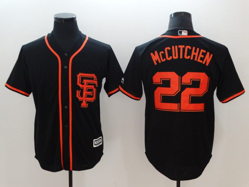 Men San Francisco Giants 22 Mccutchen Black Game MLB Jerseys