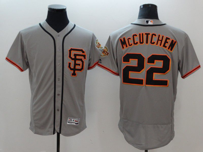 Men San Francisco Giants 22 Mccutchen Grey Elite MLB Jerseys