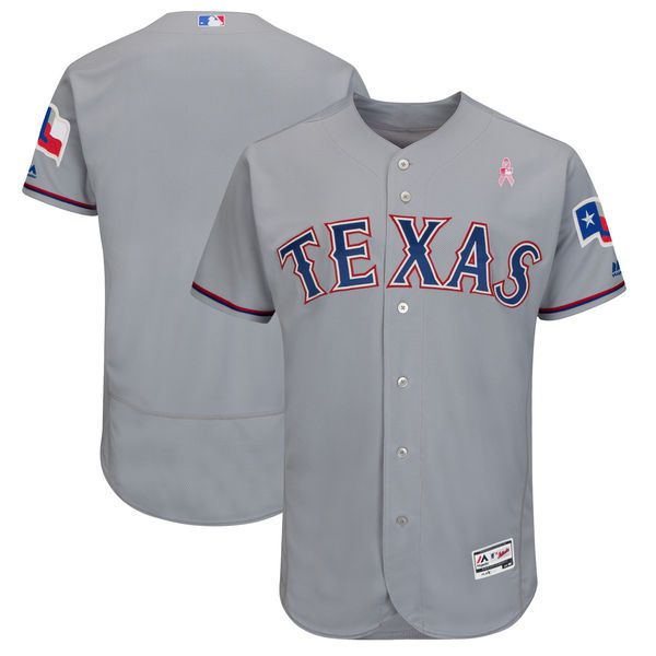 Men Texas Rangers Blank Grey Mothers Edition MLB Jerseys