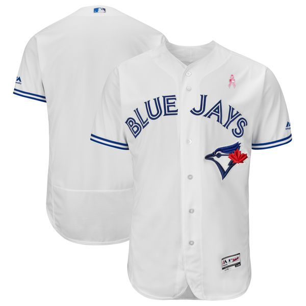 Men Toronto Blue Jays Blank White Mothers Edition MLB Jerseys