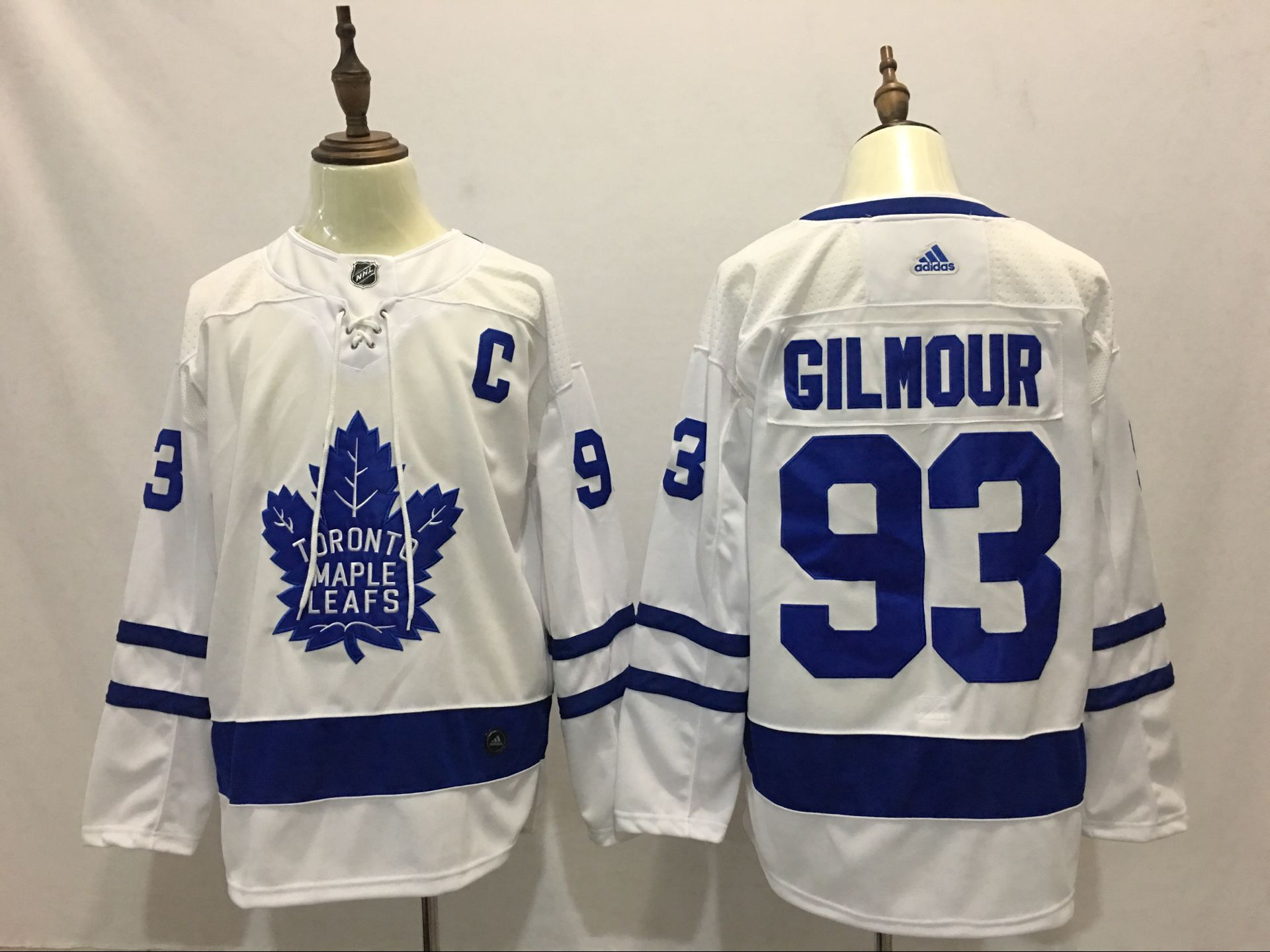 Men Toronto Maple Leafs 93 Gilmour White Adidas Hockey Stitched NHL Jerseys