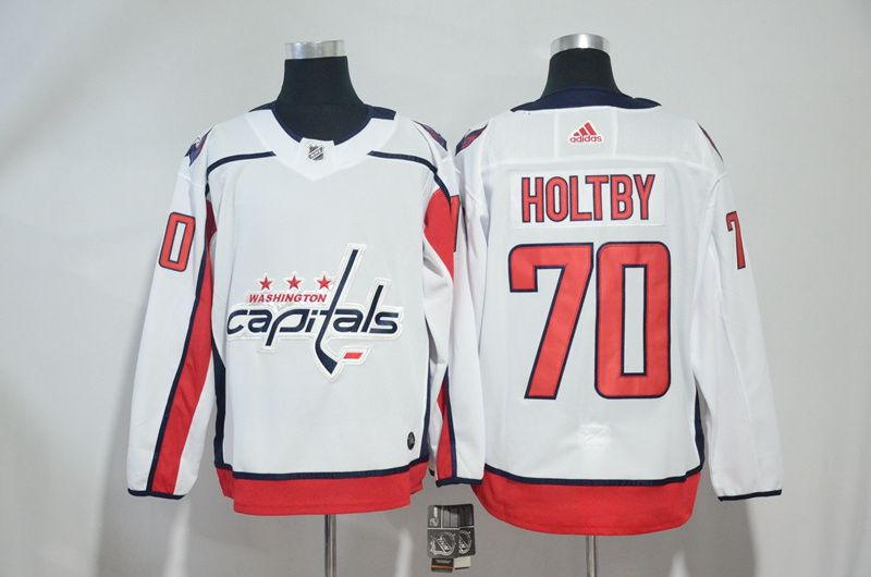 Men Washington Capitals 70 Holtby White Adidas Hockey Stitched NHL Jerseys