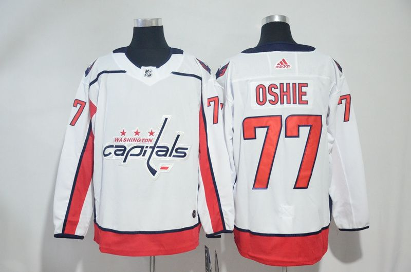 Men Washington Capitals 77 Oshie White Adidas Hockey Stitched NHL Jerseys