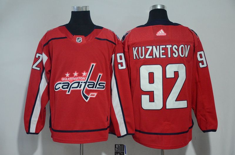 Men Washington Capitals 92 Kuznetsov red Adidas Hockey Stitched NHL Jerseys