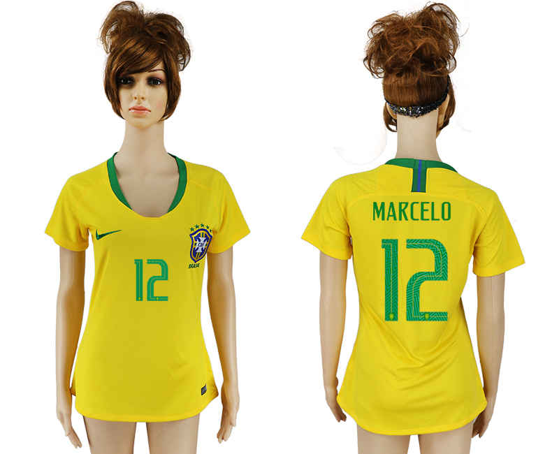 Women 2018 World Cup Brazil home aaa 12 yellow soccer jersey
