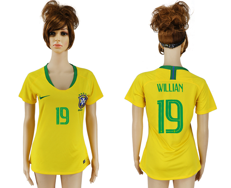 Women 2018 World Cup Brazil home aaa 19 yellow soccer jersey