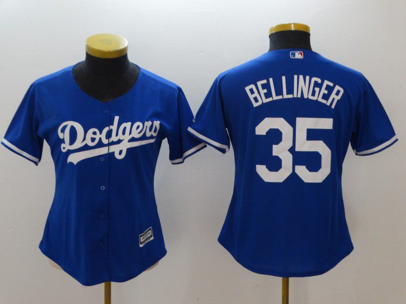 Women Los Angeles Dodgers 35 Bellinger Blue MLB Jerseys