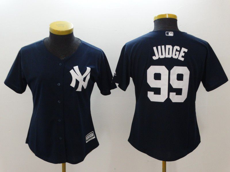 Women New York Yankees 99 Judge Blue MLB Jerseys