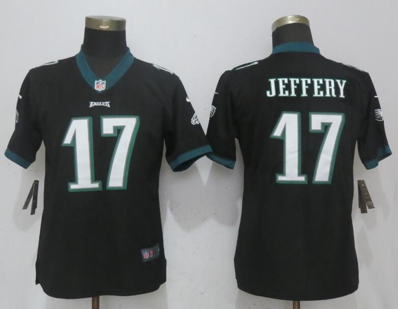 Women Philadelphia Eagles 17 Jeffery Black Vapor Untouchable Nike Player NFL Jerseys