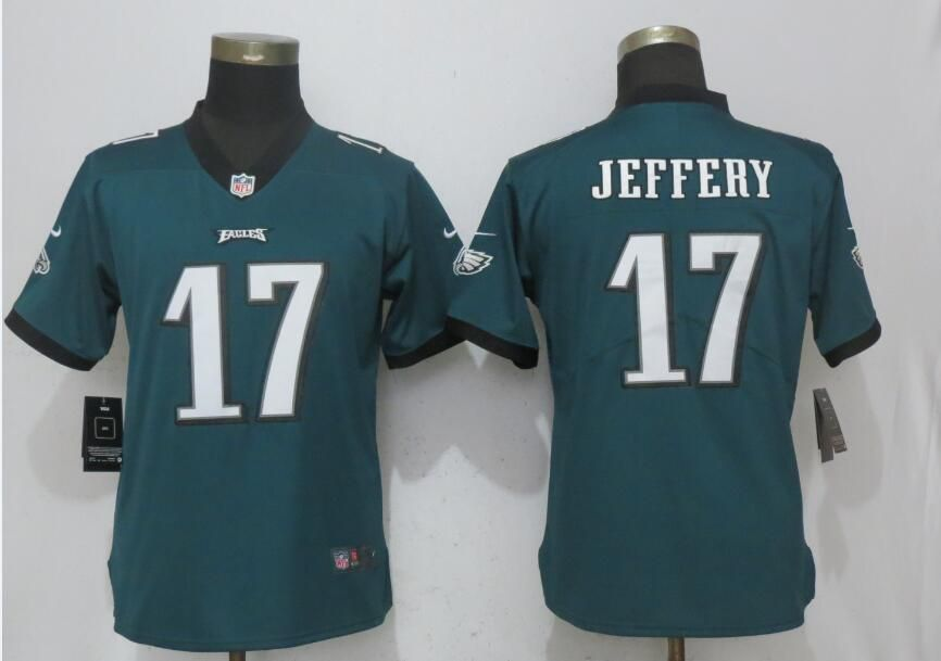 Women Philadelphia Eagles 17 Jeffery Green Vapor Untouchable Nike Player NFL Jerseys