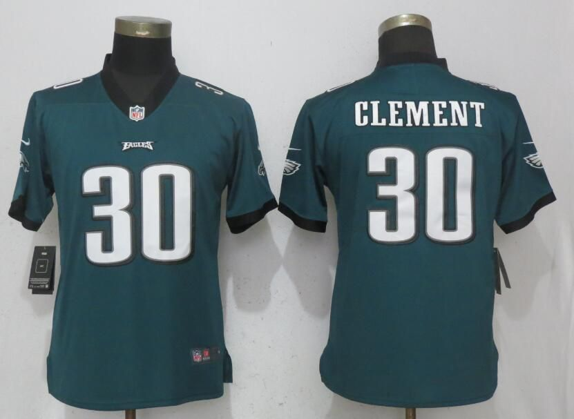 Women Philadelphia Eagles 30 Clement Green Vapor Untouchable Nike Player NFL Jerseys
