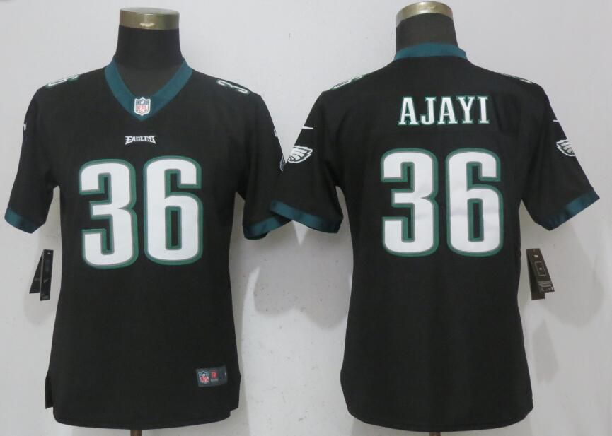 Women Philadelphia Eagles 36 Ajayi Black Vapor Untouchable Nike Player NFL Jerseys