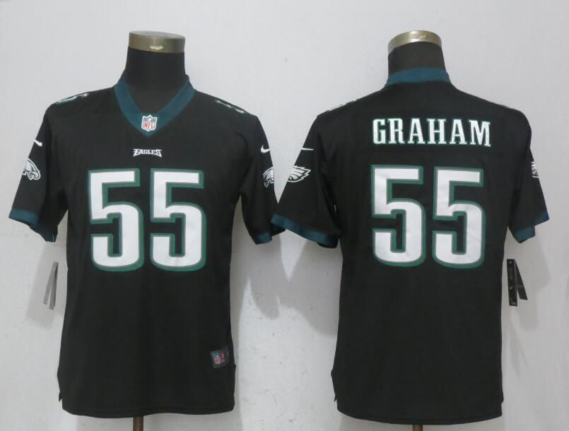 Women Philadelphia Eagles 55 Graham Black Vapor Untouchable Nike Player NFL Jerseys