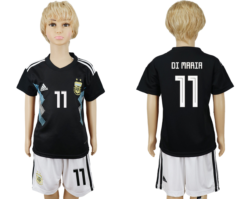 Youth 2018 world cup Argentina away 11 black soccer jerseys