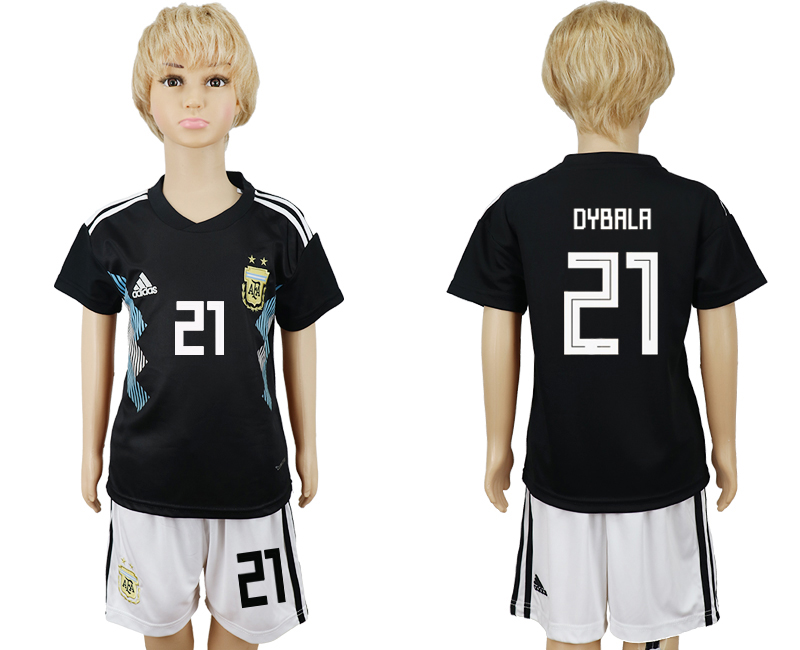 Youth 2018 world cup Argentina away 21 black soccer jerseys