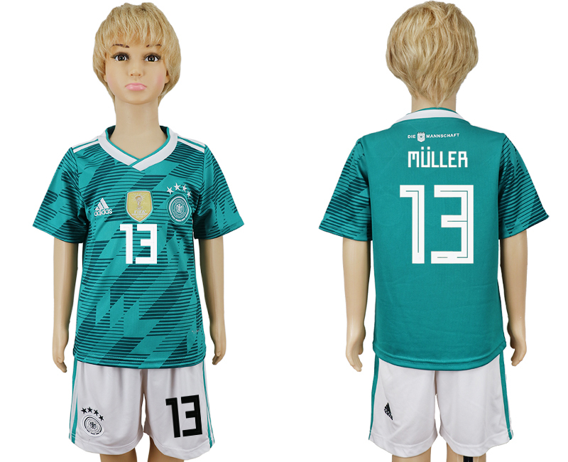 Youth 2018 world cup Germany away 13 green soccer jerseys