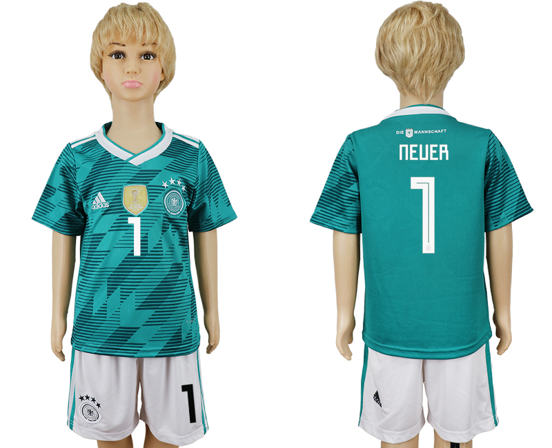 Youth 2018 world cup Germany away 1 green soccer jerseys
