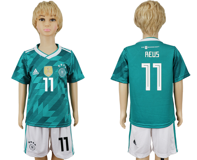 Youth 2018 world cup Germany away 11 green soccer jerseys