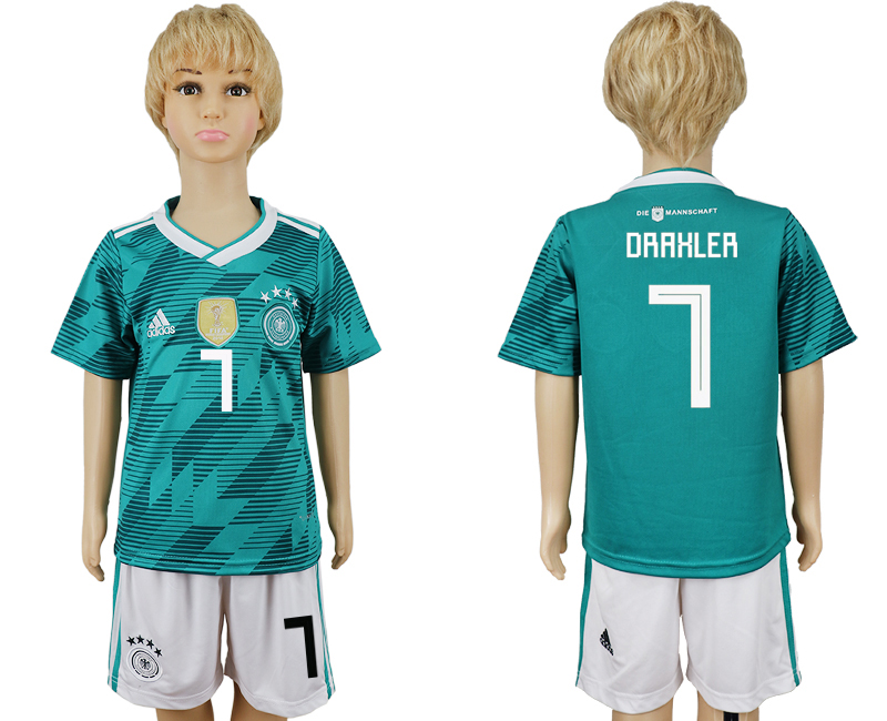 Youth 2018 world cup Germany away 7 green soccer jerseys