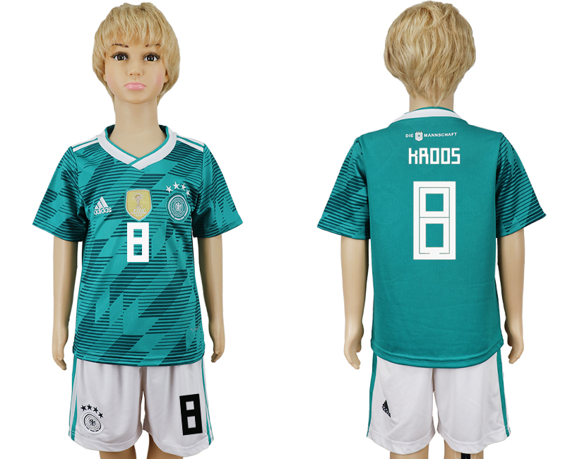 Youth 2018 world cup Germany away 8 green soccer jerseys