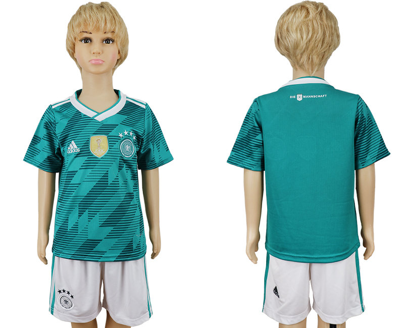 Youth 2018 world cup Germany away blank green soccer jerseys