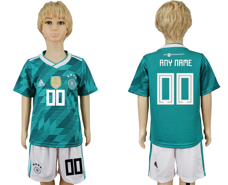 Youth 2018 world cup Germany away customized green soccer jerseys