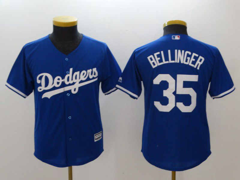 Youth Los Angeles Dodgers 35 Bellinger Blue MLB Jerseys