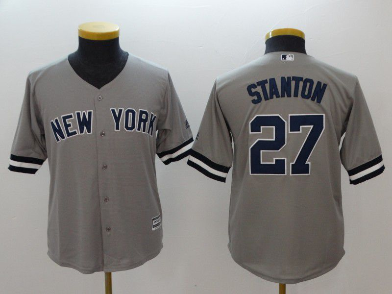 Youth New York Yankees 27 Stanton Grey MLB Jerseys