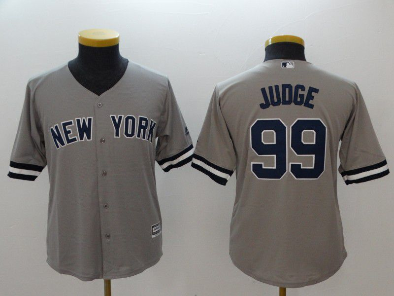 Youth New York Yankees 99 Judge Grey MLB Jerseys