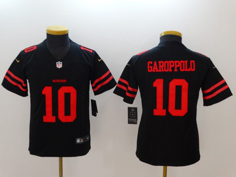Youth San Francisco 49ers 10 Garoppolo Black New Nike NFL Jerseys