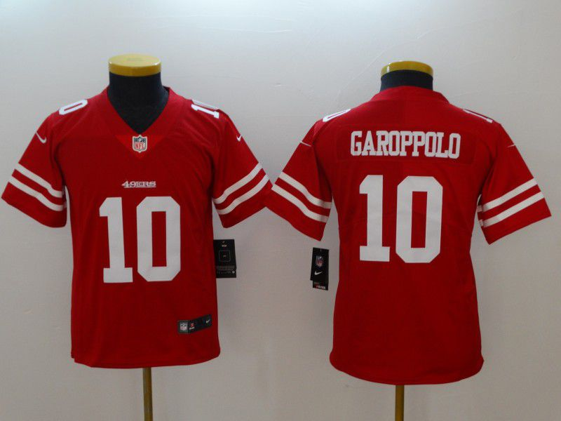 Youth San Francisco 49ers 10 Garoppolo Red New Nike NFL Jerseys
