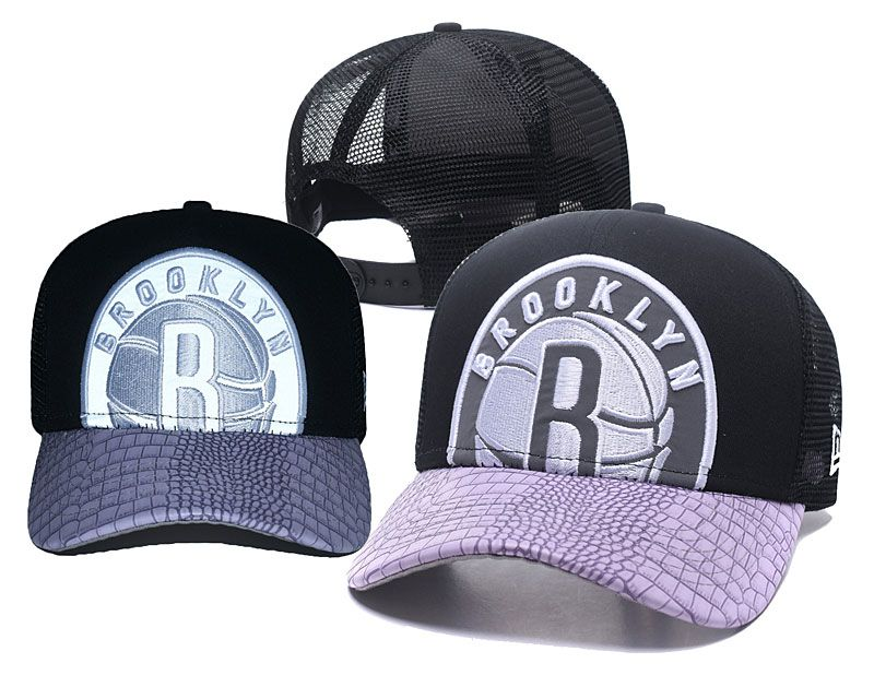 2018 NBA Brooklyn Nets Snapback hat 0517