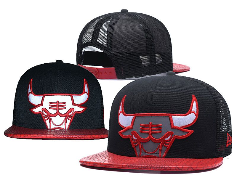 2018 NBA Chicago Bulls Snapback hat 0506