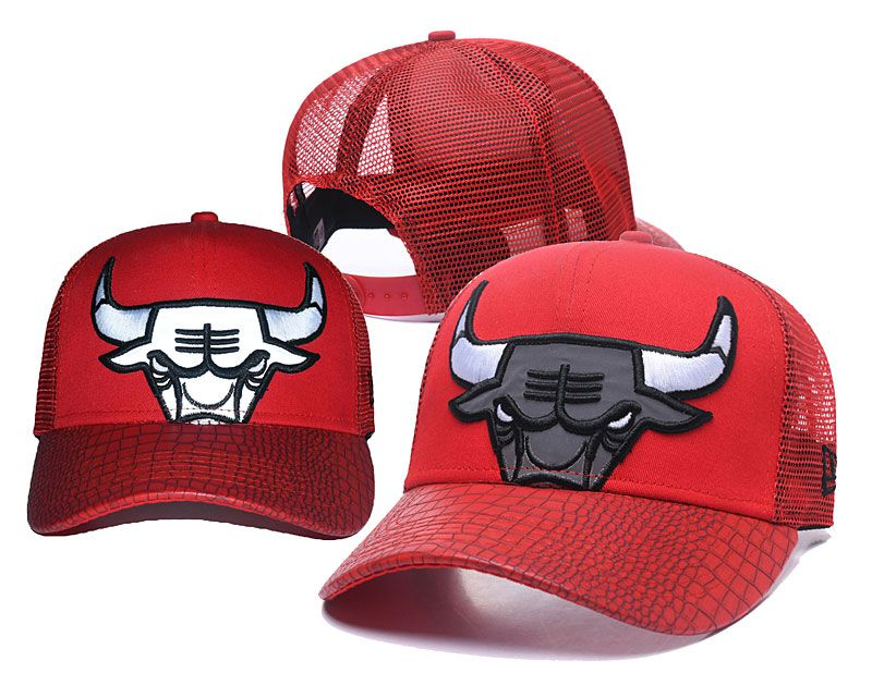 2018 NBA Chicago Bulls Snapback hat 05174