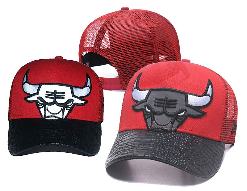 2018 NBA Chicago Bulls Snapback hat 05175