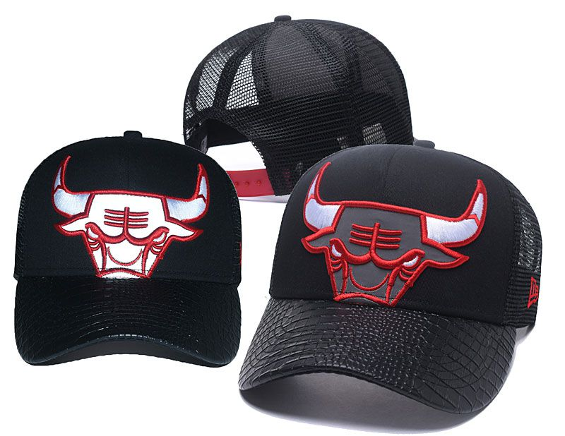 2018 NBA Chicago Bulls Snapback hat 05176