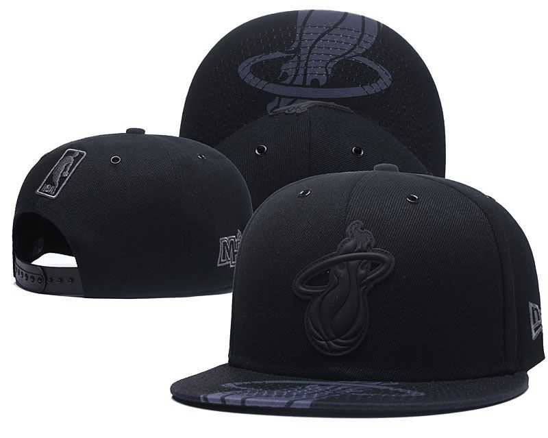 2018 NBA Miami Heat Snapback hat 0506