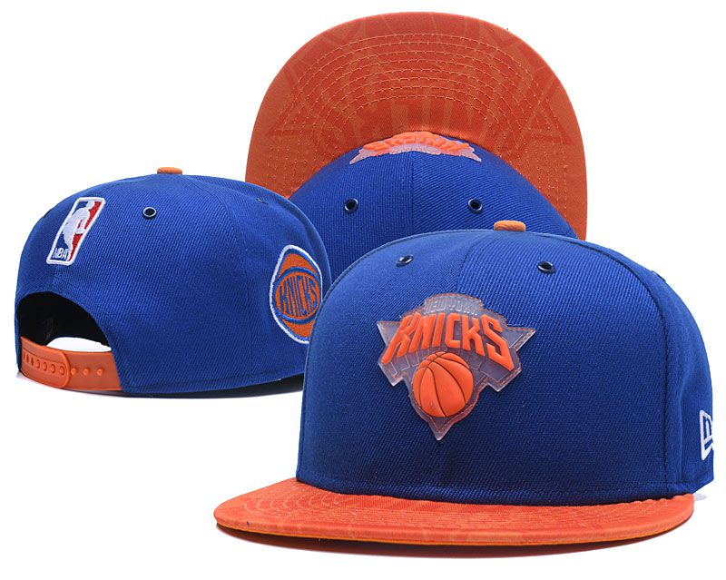 2018 NBA New York Knicks Snapback hat 0506