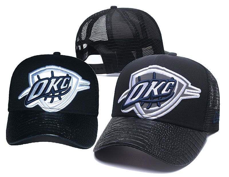 2018 NBA Oklahoma City Thunder Snapback hat 05061