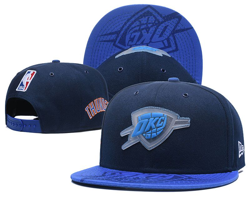 2018 NBA Oklahoma City Thunder Snapback hat 0517