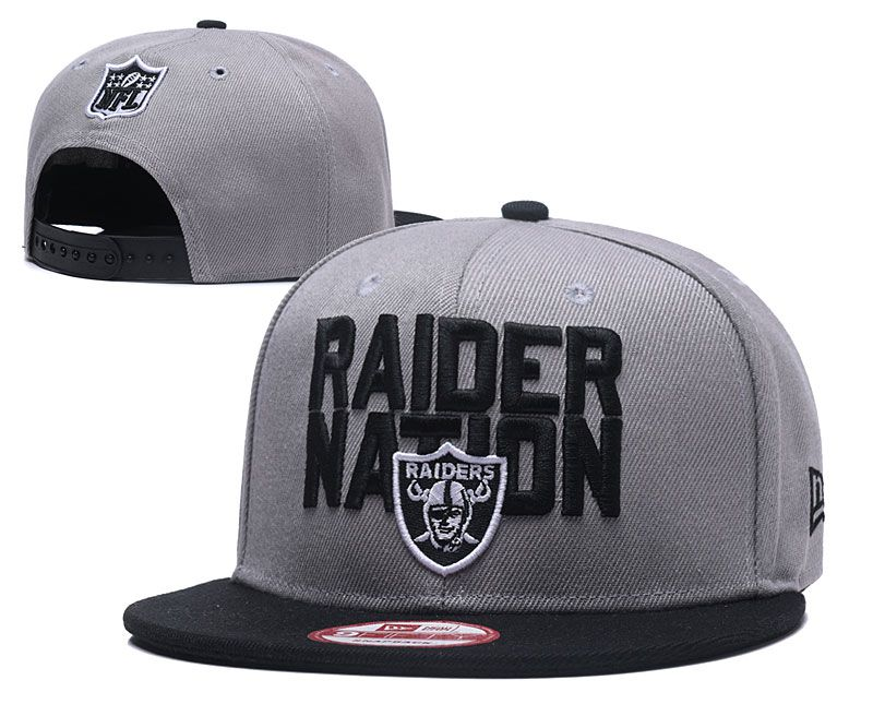 2018 NFL Oakland Raiders Snapback hat 05171