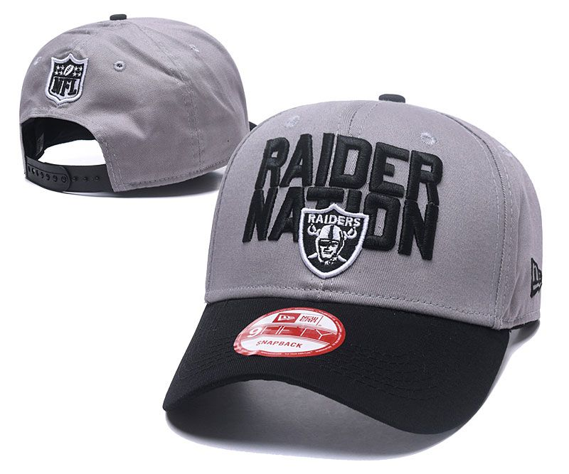 2018 NFL Oakland Raiders Snapback hat 05172