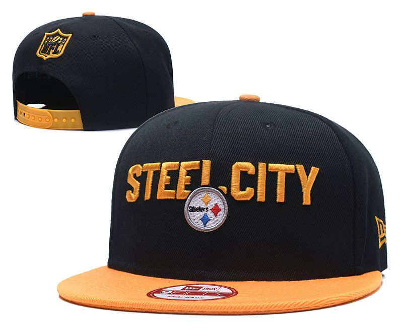 2018 NFL Pittsburgh Steelers Snapback hat 05171