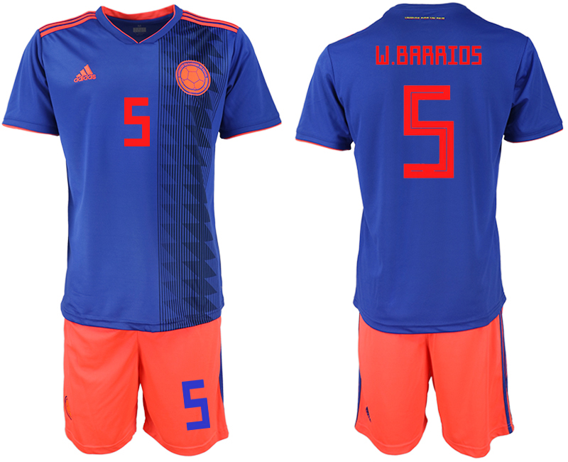 2018 World Cup Men Colombia away 5 soccer jersey