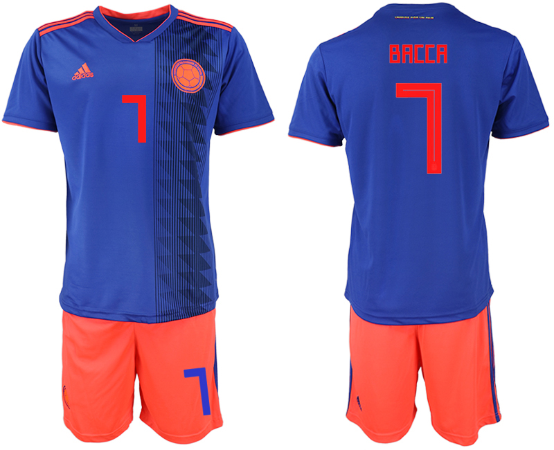 2018 World Cup Men Colombia away 7 soccer jersey