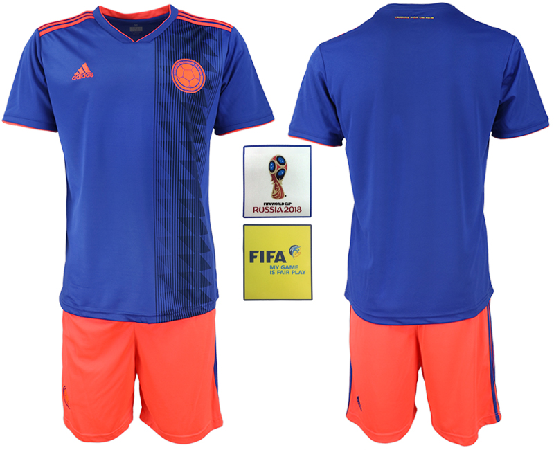 2018 World Cup Men Colombia away soccer jersey