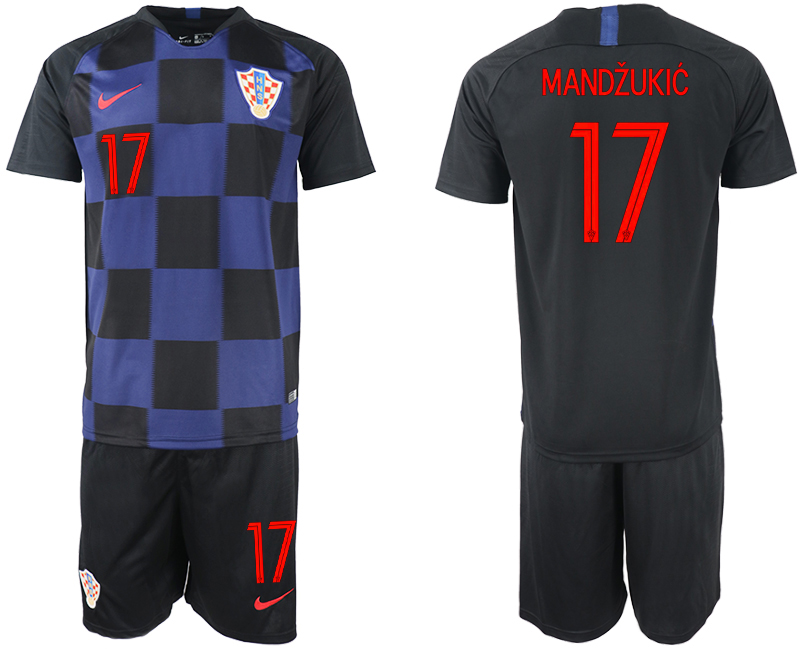 2018 World Cup Men Croatia away 17 soccer jersey