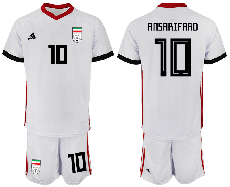 2018 World Cup Men Iran home 10 soccer jersey