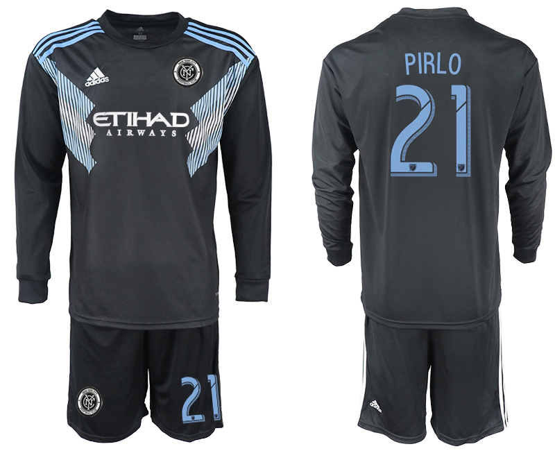 2018-2019 Club Men New York City away long sleeve 21 soccer jersey